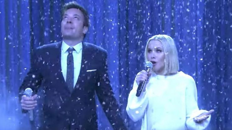 WATCH: Kristen Bell and Jimmy Fallon's performing a the history of Disney songs is a must-see