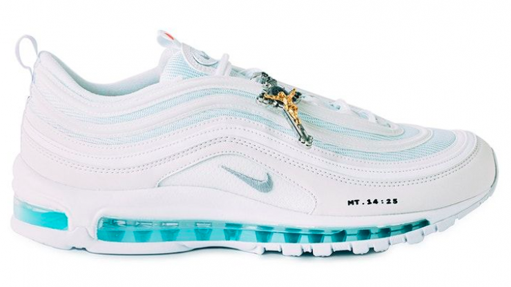 Nike Air Max with holy water in the soles exist so now you can walk on water