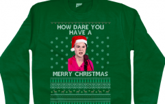 Say hello to the Greta Thunberg Christmas jumper, the most festive thing we've ever seen