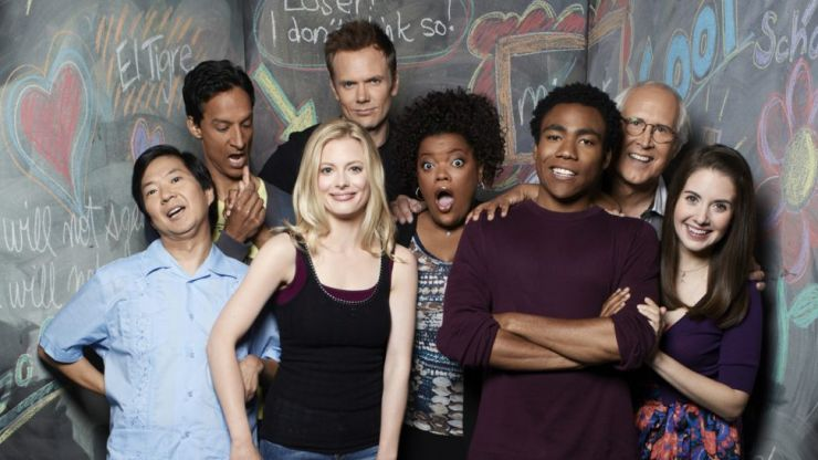 The cast of Community seem more than happy to do a movie