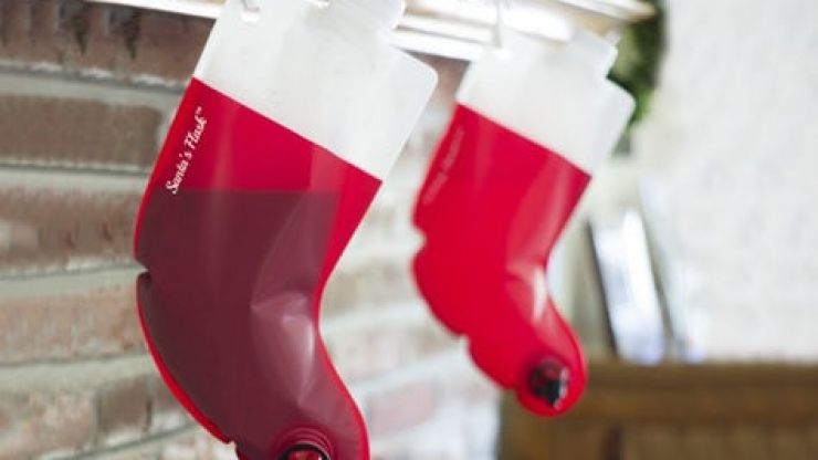 You can buy Christmas stockings filled with wine and unsurprisingly, they're proving very popular
