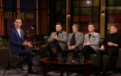 Westlife paid an emotional tribute to Gay Byrne on last night's Late Late Show