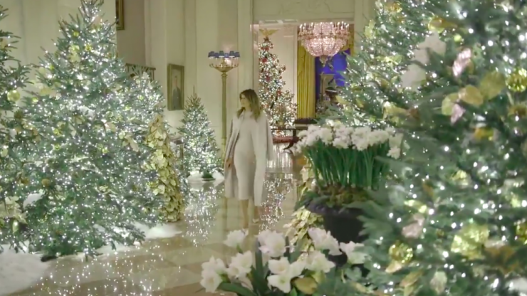 Melania Trump reveals White House Christmas lights and people are, unsurprisingly, unimpressed