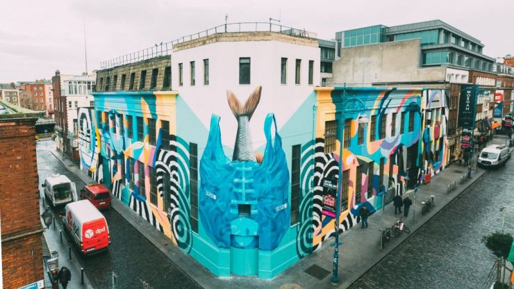 SUBSET's latest artwork has been unveiled in Temple Bar - and for a very good reason