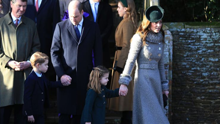 All the royal children sit in a different room during Christmas lunch
