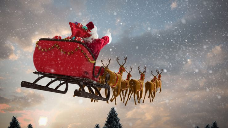 You will be able to see Santa on his sleigh on Christmas Eve (well, kind of)