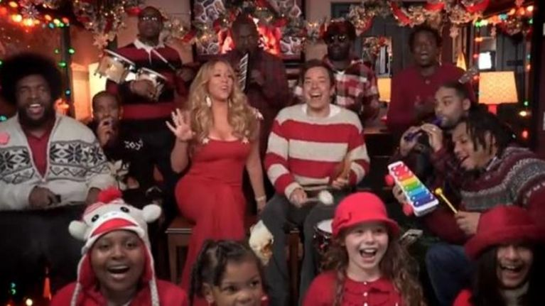it might even beat the original mariah carey jimmy fallon the roots sing - All I Want For Christmas Original