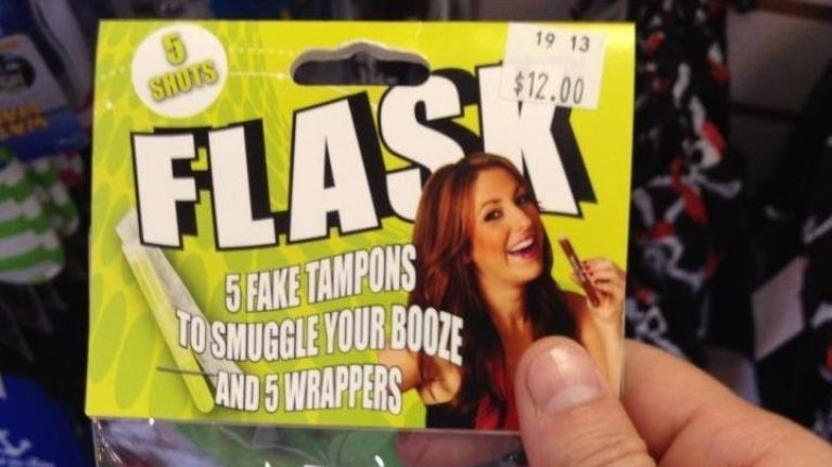 Bloody Flask-tastic: Bottles Disguised as Tampons Used to Smuggle in Booze to Venues