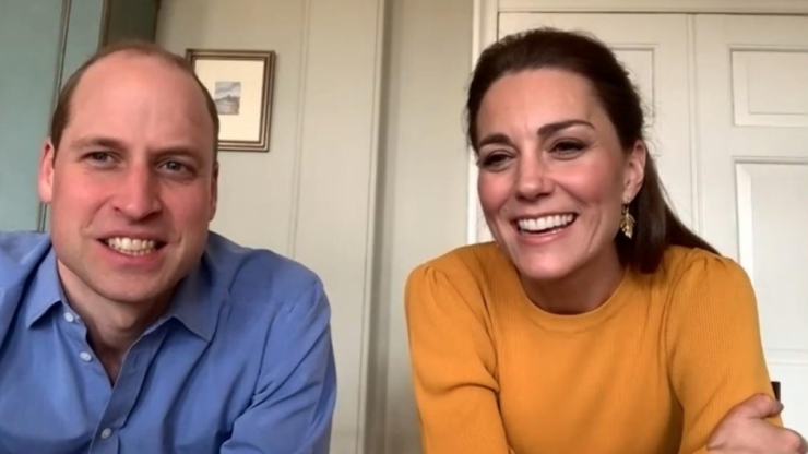 Kate Middleton and Prince William conducted a surprise royal engagement via video call