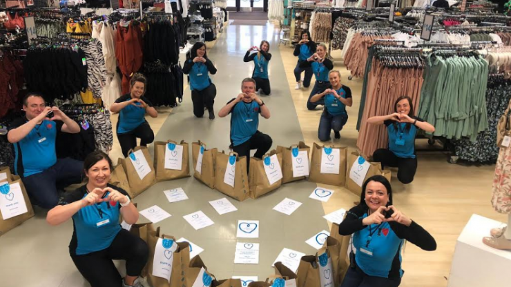 Thanks from Penneys: the high street store is delivering thousands of care packs to frontline workers