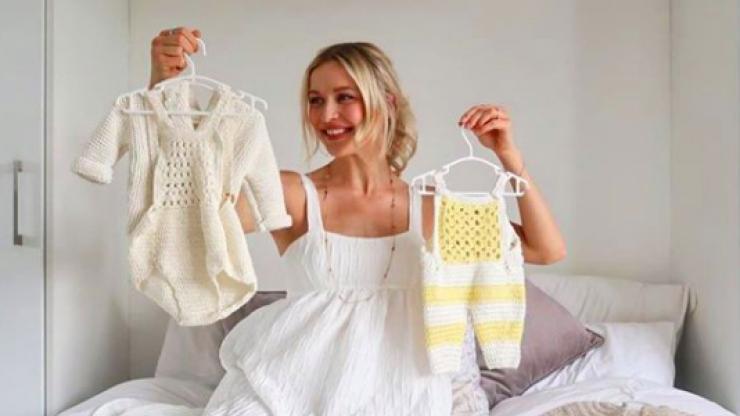 Pregnant in lockdown: Teodora Sutra on how crocheting has kept her sane