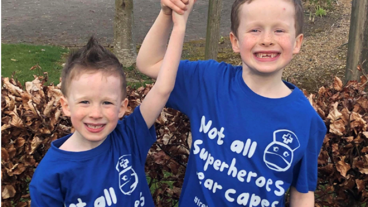 Two Irish brothers raise thousands for frontline healthcare workers