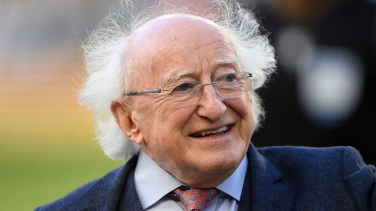 President Michael D Higgins and Saoirse Ronan for final Late Late Show of the season