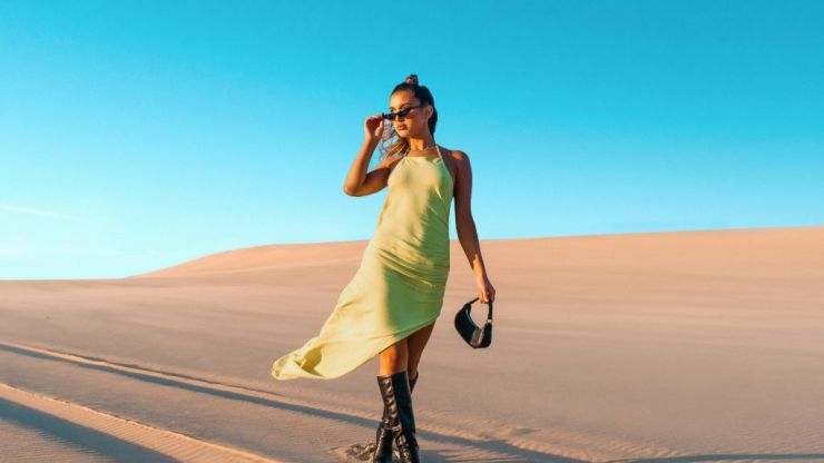 PrettyLittleThing shoot stunning 'social distance' photos of new collection by drone