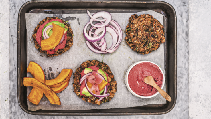 One for the BBQ: The Happy Pear's protein burger with vegan mayo