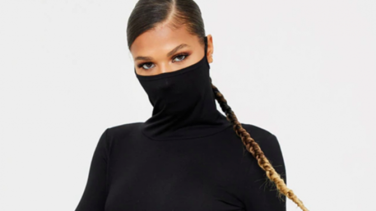 This dress has a built in face mask so you'll never forget yours again
