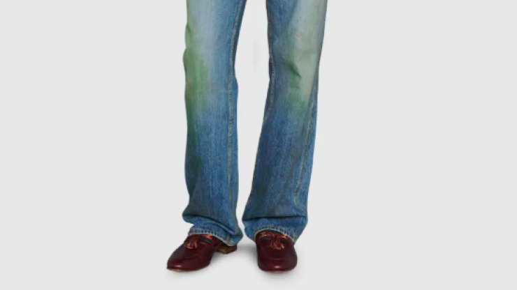 Gucci is selling jeans with fake grass stains for just €650