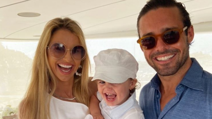 Vogue Williams praises her brave son Theodore after an 'accident' in St. Barts