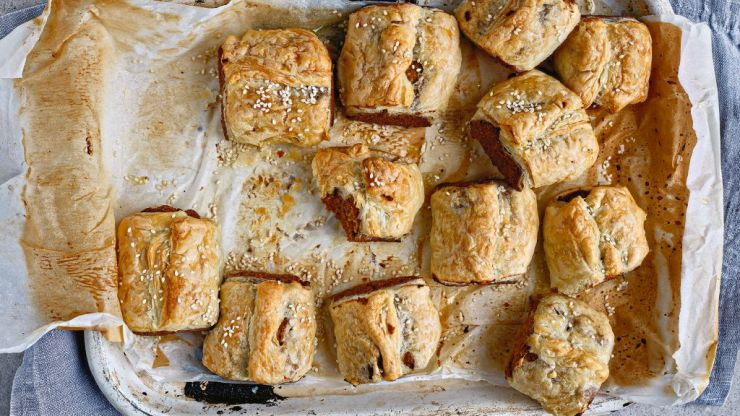 Make your own vegan sausage rolls with this recipe from Roz Purcell