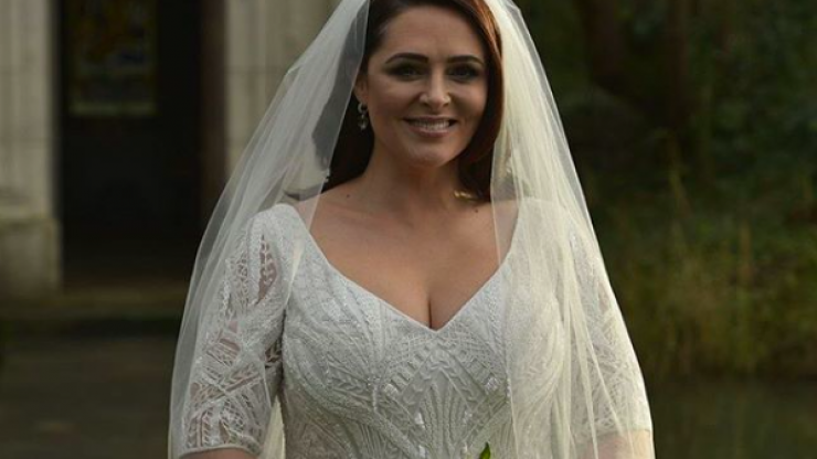 """The dress was transformed as soon as she put it on"" Designer Don O'Neill on creating Grainne Seoige's stunning wedding gown"