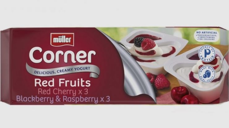 A number of Müller products recalled in Ireland due to potential presence of metal pieces