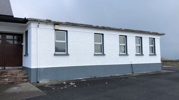 Severe winds blow the roof off a national school in Mayo