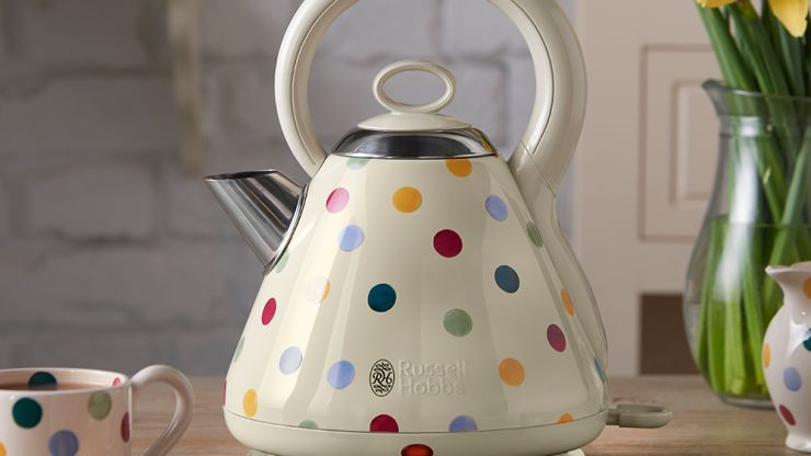 Will someone please buy me this super cute polka dot kettle?