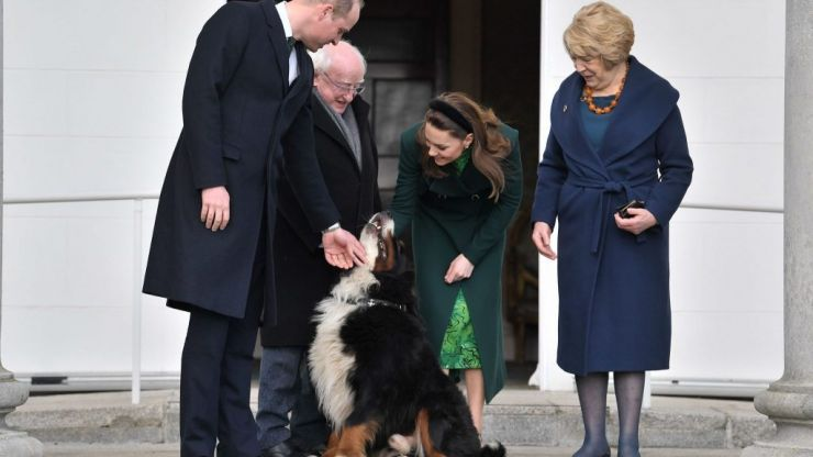 The photo you want to see today is Kate and William meeting Ireland's first dog
