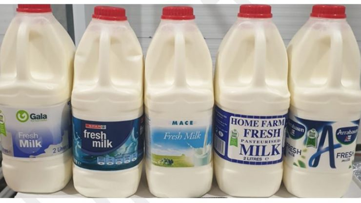 Batches of milk sold in Aldi, Spar, and Mace recalled due to presence of bacteria
