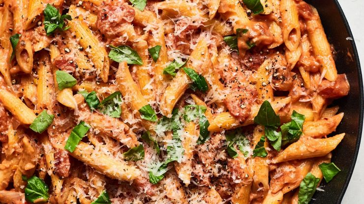 Pasta with gin sauce is a thing apparently – and honestly, it sounds SO good