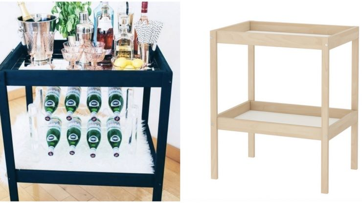 DIY: Here's how you create a stylish bar cart from this €30 Ikea changing table