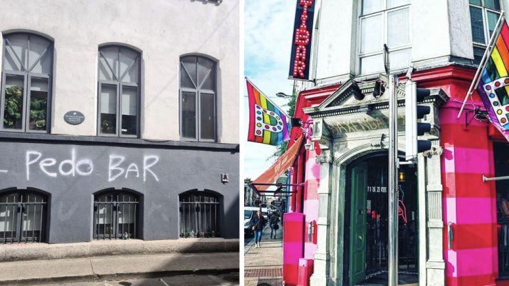 Homophobic graffiti painted on wall near Pantibar days after reopening