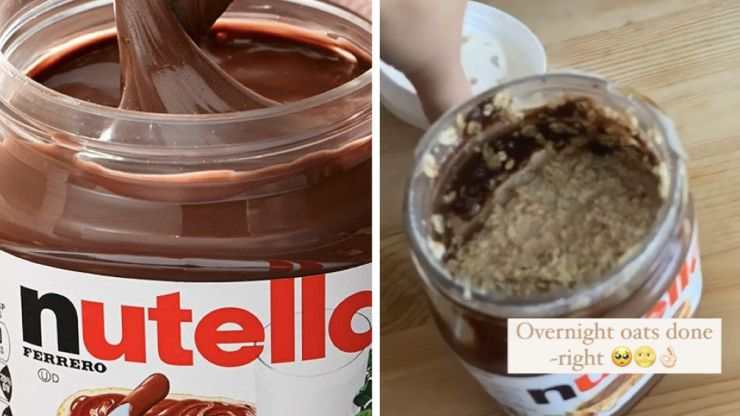 If you're not making your overnight oats in used Nutella jars you're not living life to its full potential