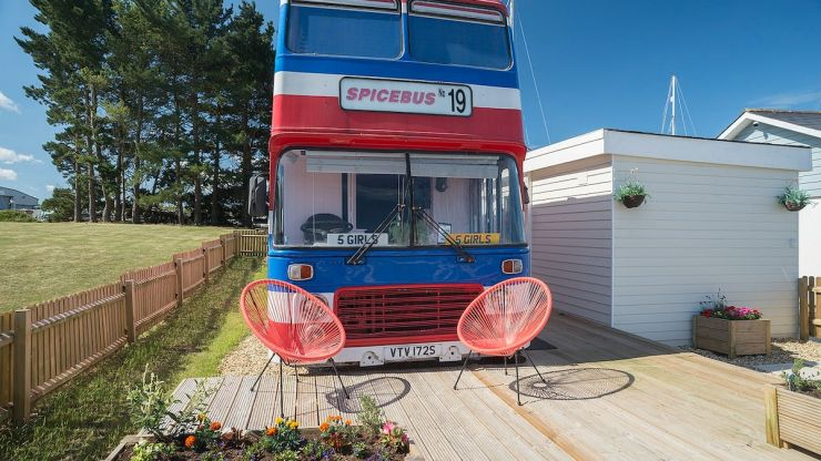 You can now stay in the original Spice Girls bus on AirBnB