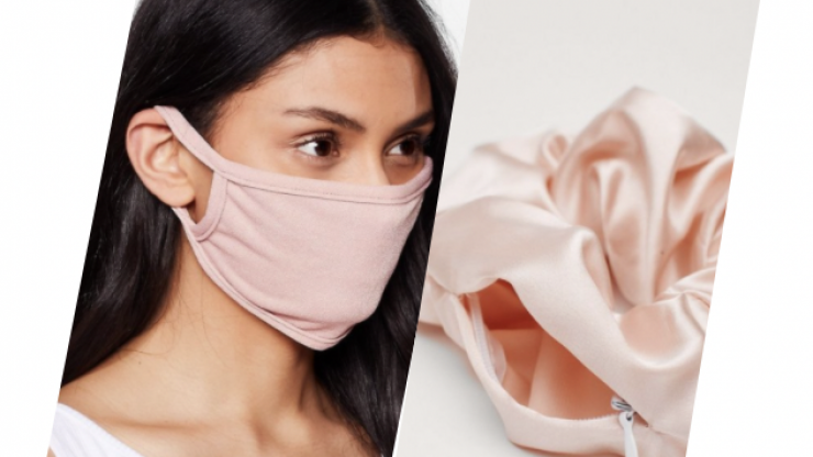 You can now buy scrunchies that hold your face mask