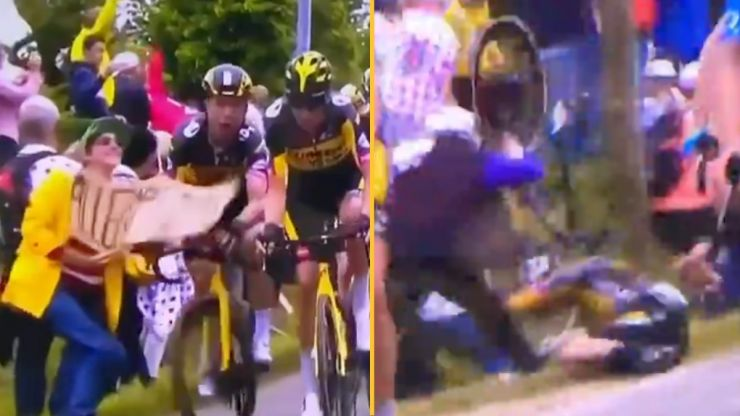 Woman arrested over Tour de France's worst-ever crash
