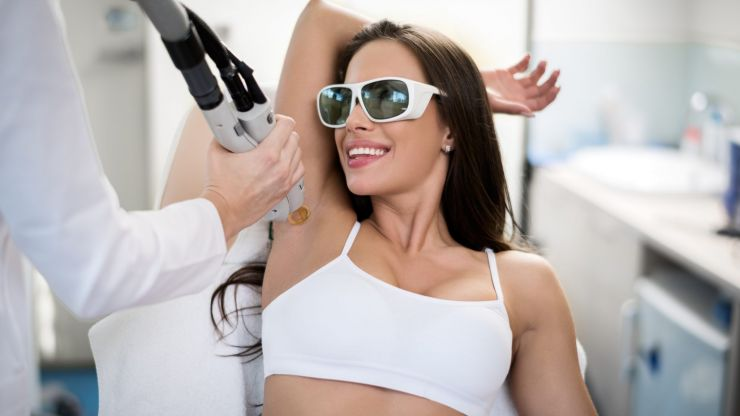 I got laser hair removal for the first time and here's how it went