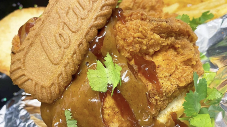Biscoff-coated fried chicken is now a thing, apparently