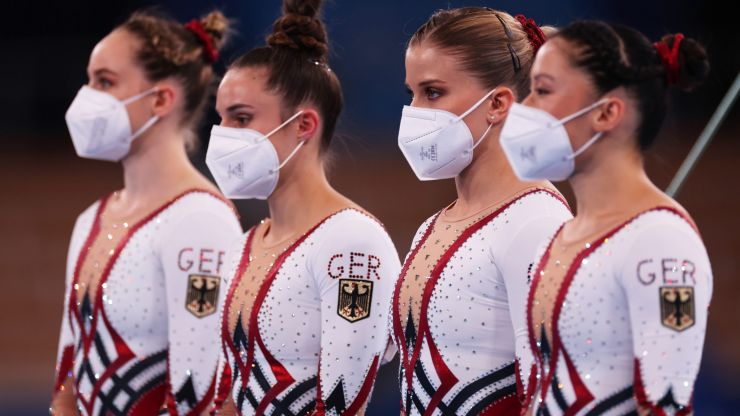 German gymnasts wear full-body unitards in stand against sexualisation