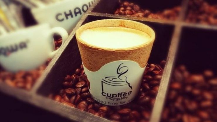 You can now get edible coffee cups in an Irish cafe