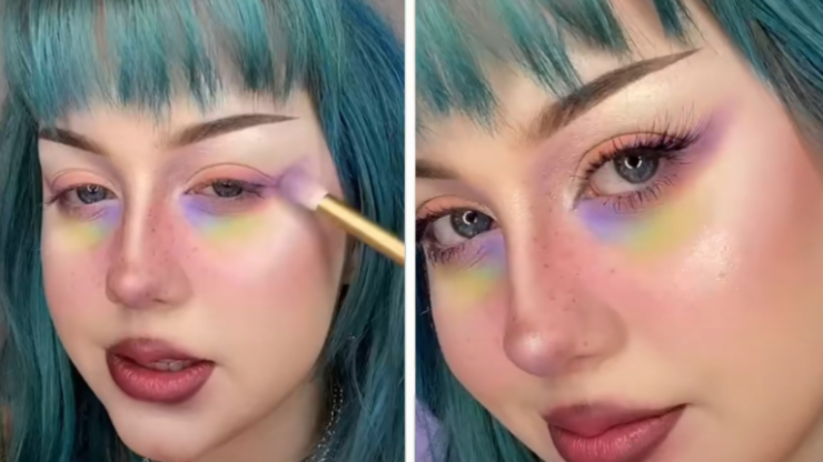 Colourful eye bags are trending - and they're actually kind of stunning