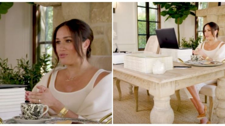 Steal her style: How to recreate Meghan Markle's sleek home office on a budget