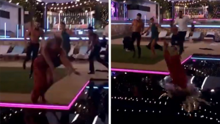 Love Island fans can't get over this clip of Faye diving into the pool