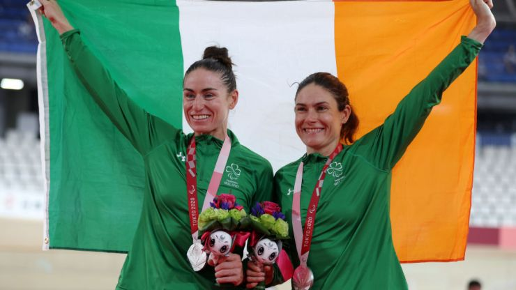 Paralympic cyclists Katie-George Dunlevy and Eve McCrystal are silver medalists