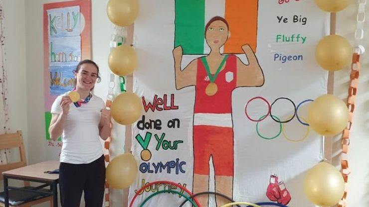 Kellie Harrington honoured with surprise art after going back to work