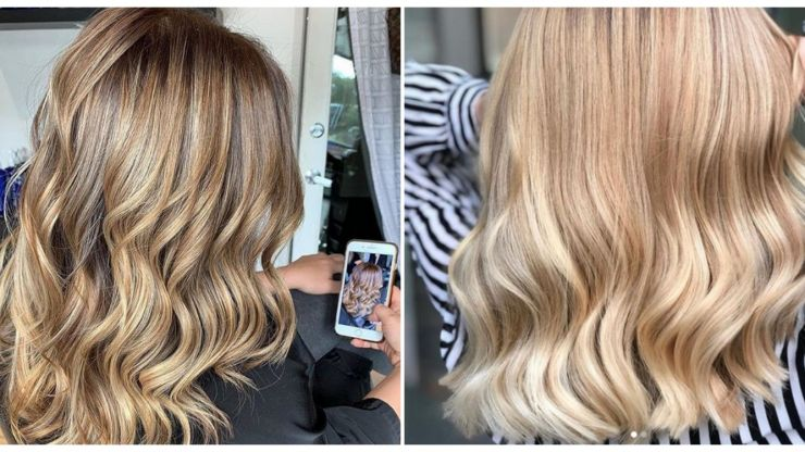 Toasted marshmallow hair is making us all want to go blonde right now