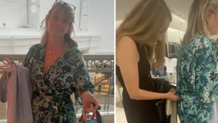 Woman returns to Zara in a jumpsuit after getting stuck trying it on