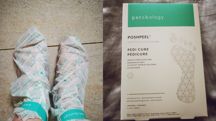 I tried out the Patchology Poshpeel pedicure booties and it was an experience