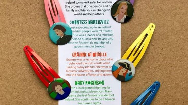 Cork business release 'Mnawesome na hEireann' hair clips featuring iconic Irish women