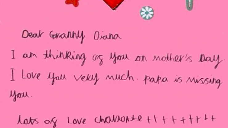 """George, Charlotte and Louis make Mother's Day cards for Granny Diana and reveal """"papa misses you"""""""